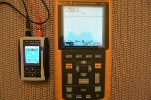 Fluke 125 Industrial Scopemeter Handheld Oscilloscope 40 Mhz Kit Read