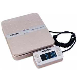 Rare Accuteck Shippro W 8580 110lbs X 0 1 Oz Gold Digital Shipping Postal Scale
