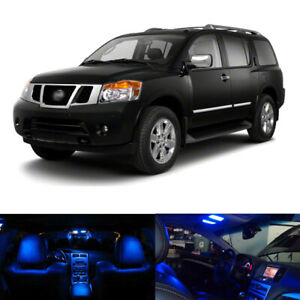 13 X Blue Led Interior Package License Plate Lights For 2004 2015 Nissan Armada