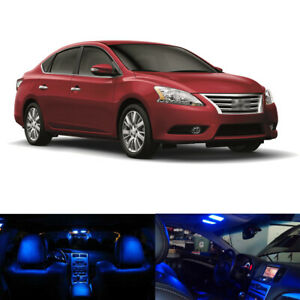 6 X Blue Led Interior Package Light Kit For 2013 2017 2018 2019 Nissan Sentra