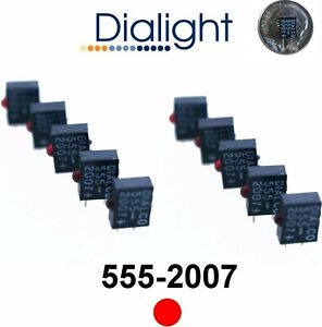 Dialight 555 2007 5v 2mm Red Right Angle Pc Mount Led Indicator 5vdc qty 10