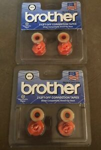 Lot Of 2 Brother Lift Off Correction Tape 3010 Daisy Wheel Compatible New