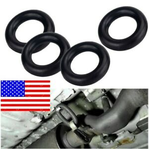 4pcs Rubber Hanger Insulator Mount Muffler Bushing Exhaust Support Kit