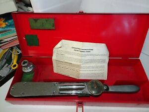 Snap on Torqometer 125 Ft Lbs 1 2 Drive Torque Wrench Case Instructions