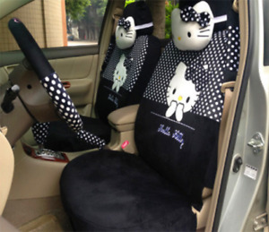 2020 New Hello Kitty Car Seat Cover Cute Interior Styling Accessories 18 Pcs