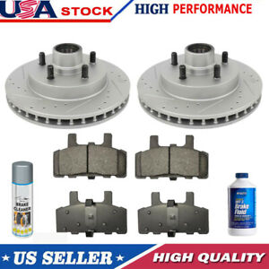 Front Drill And Slot Brake Rotors Ceramic Pads For Chevy Gmc