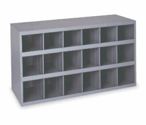 Steel Bin Shelving 18 Pigeonhole Compartments Parts Fittings Shop Storage Garage