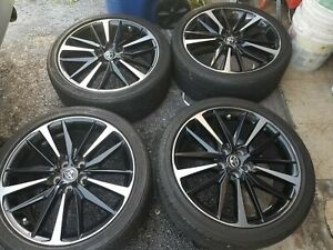 19 Toyota Camry Xse 2019 Oem Black Wheels Rims Tires Avalon Im 75222 2018 2020