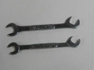 Snap On 2 Piece Lot Sae 60 Degree Offset Open End Ignition Wrenches Ds Series