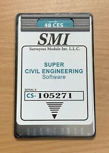 Smi Super Civil Engineering Card For Hp 48gx Calculator