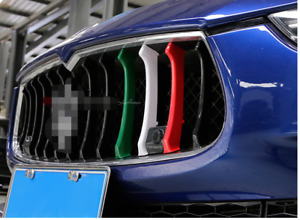 For Maserati Ghibli 2014 2016 Three Color Front Grille Cover Trim Molding 3pcs
