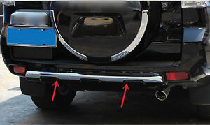 For Toyota Land Cruiser Prado Fj150 2010 2018 Black Rear Bumper Protector Trim