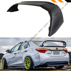 For 2014 2020 Toyota Corolla Mug Style Black Jdm Stand Up Big Trunk Spoiler Wing