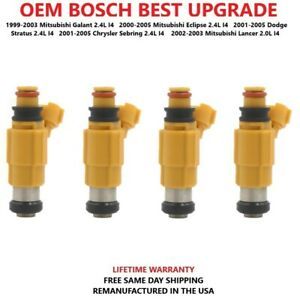 Best Upgrade Oem Bosch 4 Fuel Injectors For 1999 05 Mitsubishi Dodge Chrysler I4