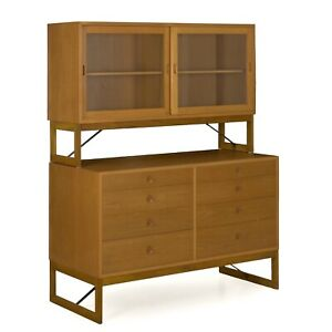 Danish Modern Oak Bookcase Bookshelf Cabinet On Dresser By B Rge Mogensen C 1960