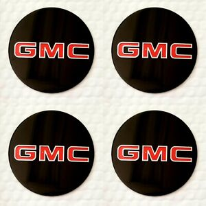 4 Wheel Center Cap Logo Sticker Decal Emblem Black 3 5 88mm Gmc 1500 2500 3500