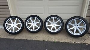 19 Rohana Rc7 Machined Silver Wheels Tires 19x8 5 Et 35 5x4 5 Accord