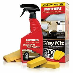 Mothers California Gold Clay Bar Kit System Auto Paint Correction Free Shipping