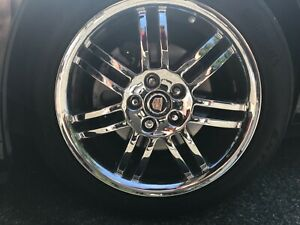 Brand New Genuine Gm Oem Factory Chrome Cadillac Sts Dts Accessory 18 In Wheels