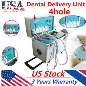 Portable Dental Delivery Unit System Rolling Case Suction Three way Syring Sale