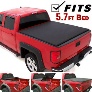 Lock Tri Fold Tonneau Cover Fits 2002 2018 Dodge Ram 1500 2500 3500 5 7ft Bed