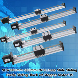 200 1000mm Travel Slide Cnc Linear Actuator Stage Lead Screw 42 57 Stepper Motor