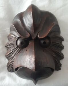 Wood Mask Of Karasu Tengu