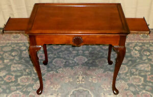 Hickory Chair Solid Mahogany Vintage Tea Table