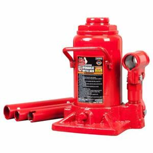 Torin Big Red Hydraulic Stubby Bottle Jack 12 Ton Capacity