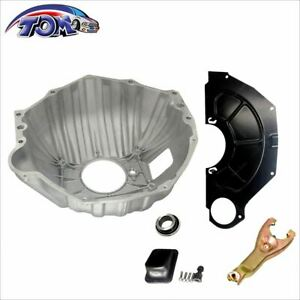 Gm Chevy 11 Bell Housing Kit W Clutch Fork Inspection Cover Throwout Bearing