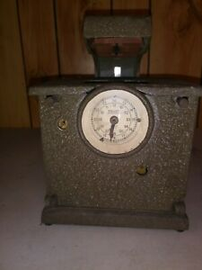 Vintage Follett Time Date Recording Punch Clock Great Shape