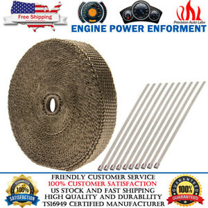 Titanium Manifold Exhaust Wrap Header Pipe Heat Insulation Tape Roll 1 X 50 Ft