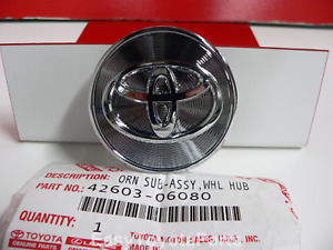 Toyota Wheel Center Cap With Logo Set Of Four Oem Toyota 42603 06080