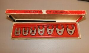 Snap on 7 pc 3 8 Crowfoot Flare Nut Wrench Set W Tray 6 Pt 3 8 3 4 207s frh