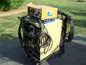 Hobart Tr250 Arc Welder W Airco Hfas 1 W Cart Arc Cables And 3 Tig Torches