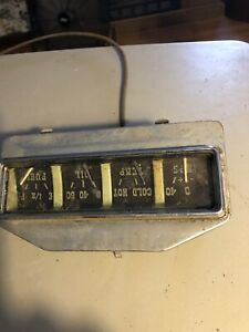 Vintage 1930 s Automotive Gauge Set No Brand Or Markings