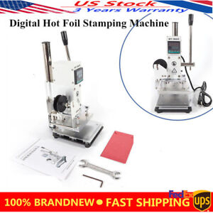 Digital Hot Foil Stamping Machine Leather Pvc Card Embossing Bronzing 10x13cm Us