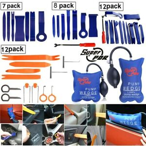 Car Panel Removal Open Pry Tools Kit Dash Door Radio Trim Pdr Pump Wedge 7 12pcs