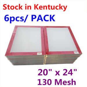 6 Pack 20 X 24 Aluminum Silk Screen Printing Frame Screens With 130 Mesh Count