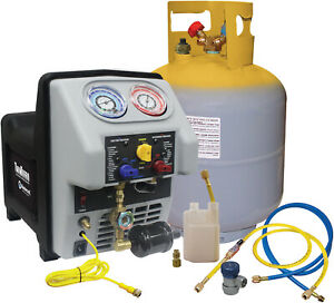 Twin Turbo Refrigerant Recovery Machine For All R134a Applications Including