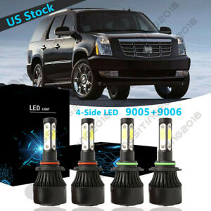 4side 9005 9006 Led Headlight Bulb For Cadillac Escalade 2002 Deville 2000 2005
