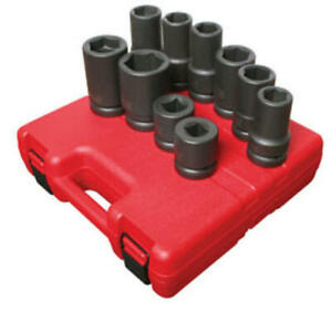 Sunex 5690a 1 Inch Drive Heavy Duty Wheel Impact Socket Set 10 Piece Sae Me