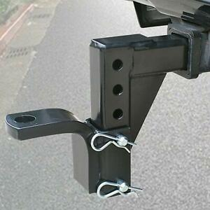 Adjustable Ball Mount Dual Trailer Drop Towing Hitch Truck Rv Receiver 5000 Lbs