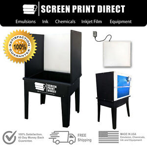 Ecotex Screen Printing Equipment Washout Booth Tank With L e d Back Light