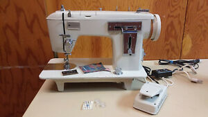 Straight Zig Zag Stitch Sewing Machine Heavy Duty Leather Upholstery Serviced