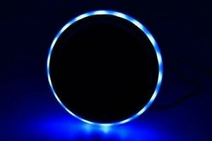 Blue Led Light Ring Stainless steel Cup Drink Holder With Drain 4 Pcs