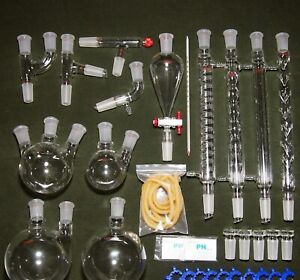 Organic Chemistry Full Kit Complete Set Laboratory Glassware Professional 24 40