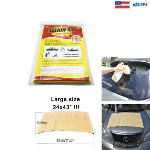 Large Chamois Syntheticleather Car Cleaning Cloth Washing Absorbent Drying Towel