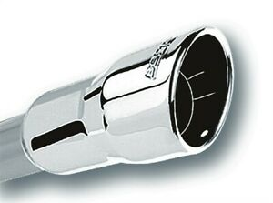 Borla 3in Inlet 4 25in Round Rolled Angle Cut X 4in Long Universal Exhaust Tips