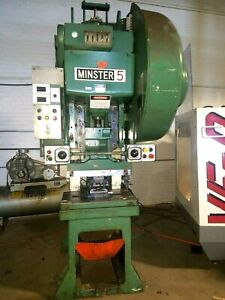 Minster 45 Ton Stamping Press Metal Stamp Machine Punch Blank With 6 Servo Feed